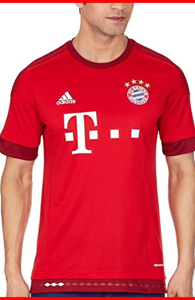 Amazon.com : 2015-2016 Bayern Munich Adidas Home Football Shirt ...