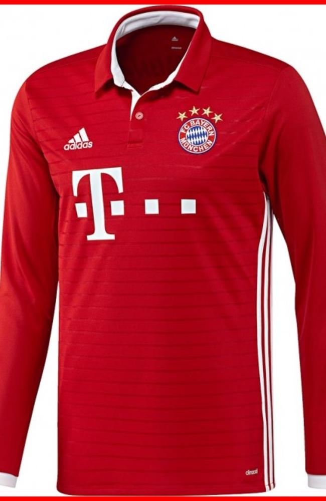adidas Bayern Munich Home Long Sleeve Jersey 16/17 | soccerloco