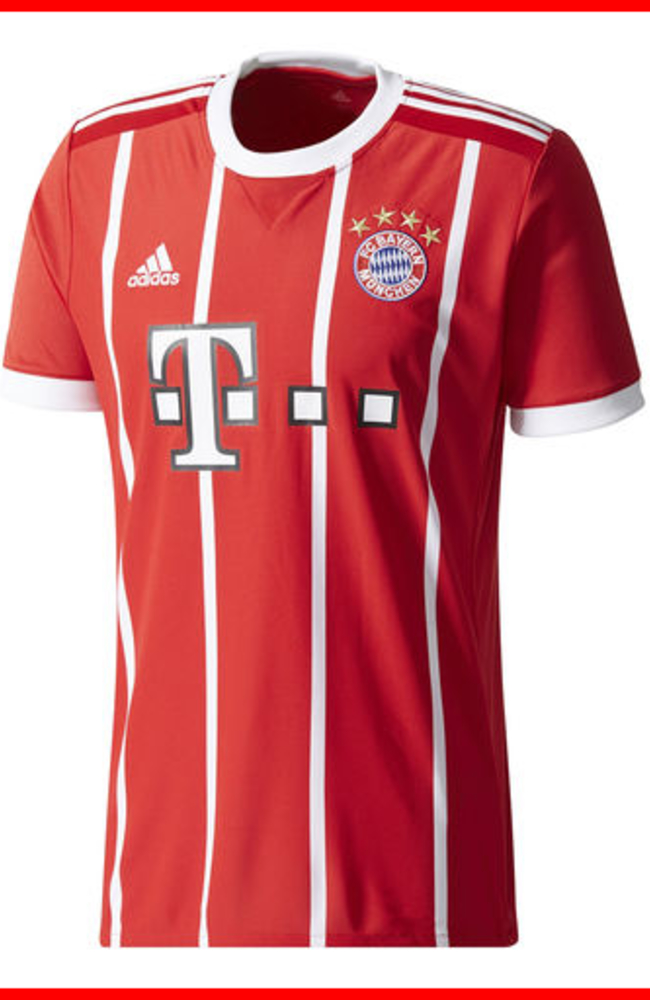 Bayern Munich Adult 2017-2018 Home Replica Jersey | Modell\'s ...